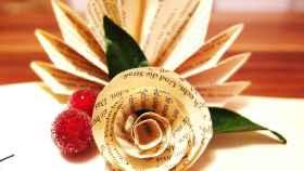 Flores de papel con la técnica del origami
