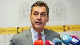 Francisco Tierraseca, delegado del Gobierno en Castilla-La Mancha, este jueves en rueda de prensa en Toledo. Foto: Óscar Huertas