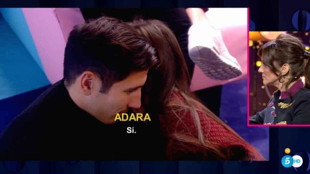 Detalle del momento en el que Adara ha reconocido que estaba enamorada de Gianmarco.