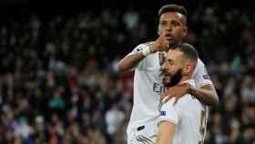 Rodrygo Goes y Karim Benzema