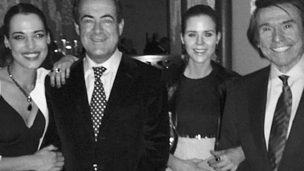Ana Bono, José Bono, Amelia Bono y el suegro de ésta, el cantante Raphael.
