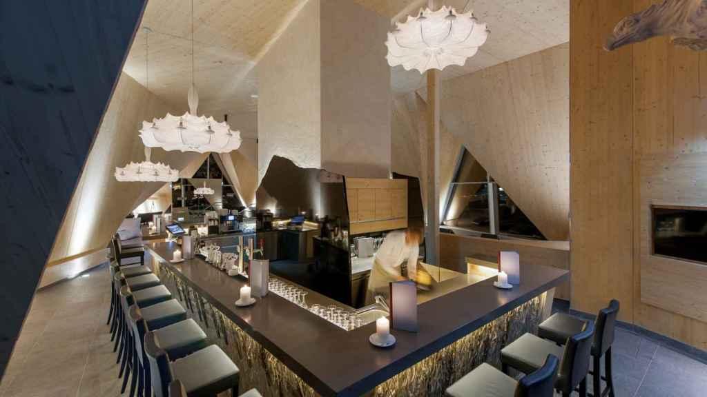 El bar del Aqua Dome.