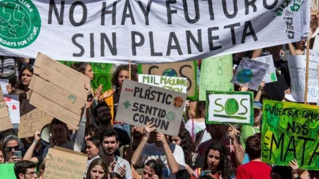 Imagen de una protesta en favor de la protección del clima.