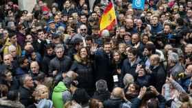 Pablo Casado, en el último día de campaña, en Palencia.