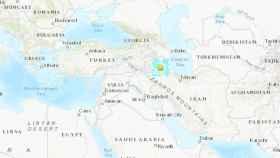 La zona afectada por el terremoto.