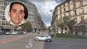 El hombre fue atropellado en la calle de la Diputación, en pleno centro de Barcelona.