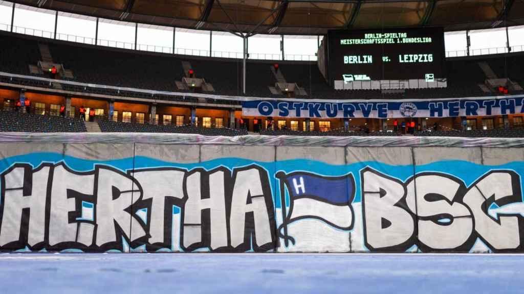 El acto del Hertha Berlin en el 30 aniversario de la caída del Muro
