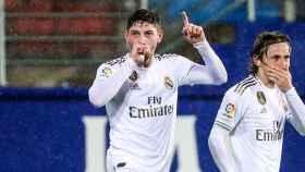 Fede Valverde marca su primer gol con la camiseta del Real Madrid