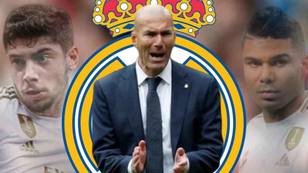 Zidane, Valverde y Casemiro
