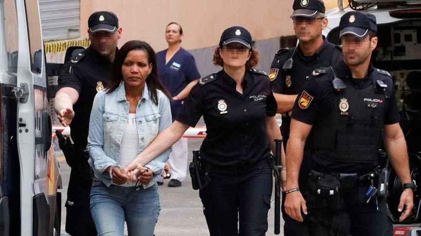 Ana Julia Quezada a su llegada a una de las sesiones del juicio por la muerte de Gabriel Cruz.
