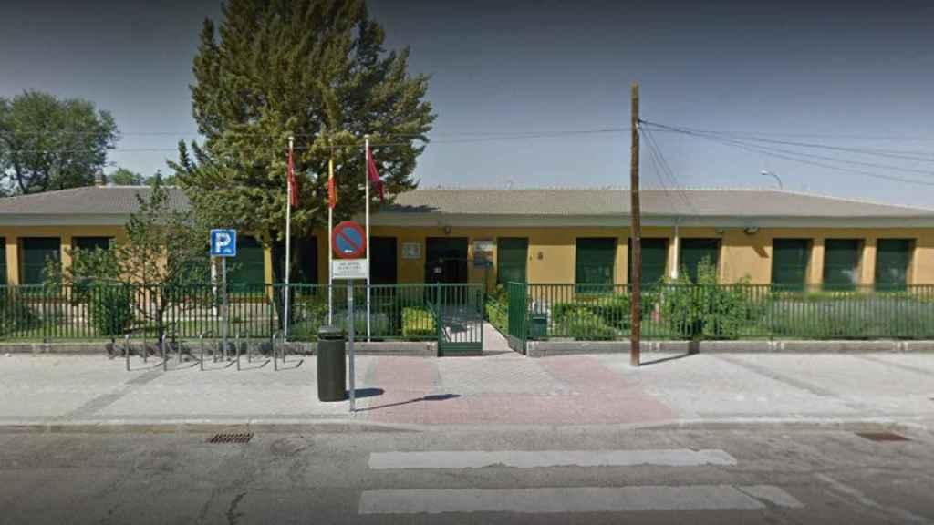 Colegio público Monte de El Pardo, donde han votado los vecinos de Franco.
