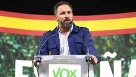 Santiago Abascal, líder de Vox, en una imagen de la campaña electoral