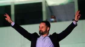 El líder de Vox, Santiago Abascal, este domingo.