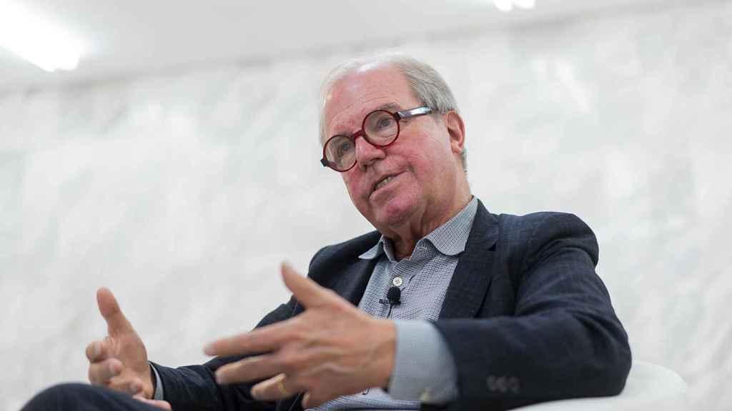 Nicolás Negroponte en un momento de la entrevista tras su charla en el WOBI de Madrid