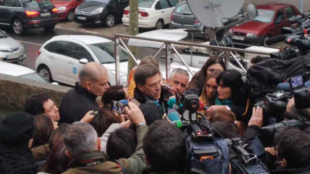 Juan Carlos Quer, a las puertas de los Juzgados de Santiago de Compostela.
