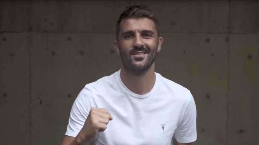 David Villa, en el anuncio de su nuevo objetivo