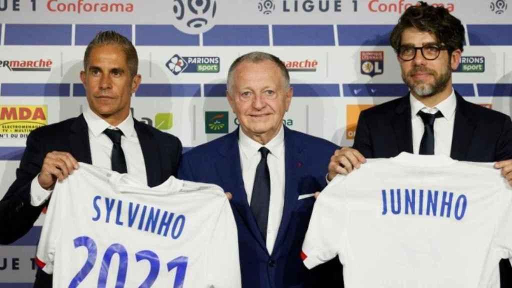 Sylvinho y Juninho en Lyon.