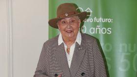 Pilar de Borbón ha acudido a la presentación del rastrillo benéfico Nuevo Futuro, celebrado en Madrid.