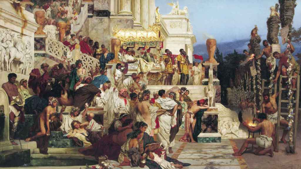 Cuadro de Henryk Siemiradzki que retrata a un grupo de cristianos que van a ser ejecutados como responsables del incendio de Roma del año 64.