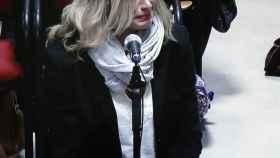 La madre de Diana Quer, Diana López-Pinel, en el primer día del juicio.