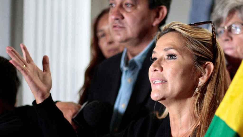 Jeanine Áñez, vicepresidenta segunda del Senado y favorita para conseguir el mando presidencial.