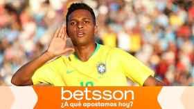 Rodrygo Goes, en un partido de Brasil
