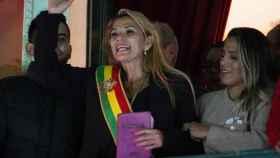 La senadora opositora Jeanine Áñez.