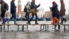 Venecia, inundada.