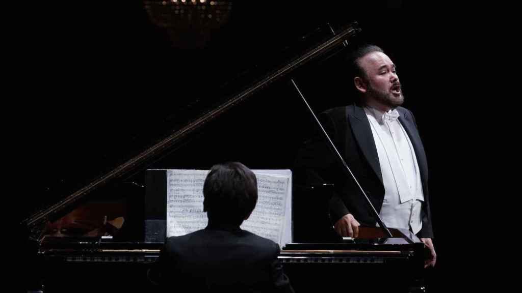 Javier Camarena, durante su recital de este miércoles.