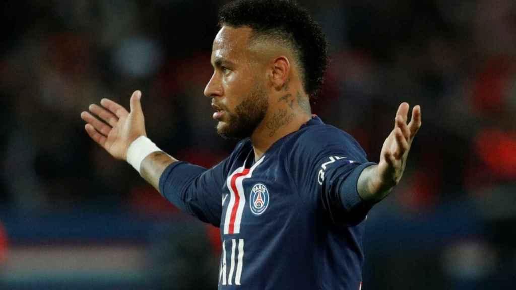 Neymar, con la camiseta del PSG