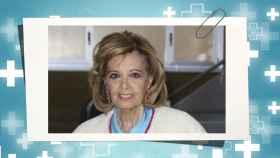 María Teresa Campos en un montaje de Jaleos.