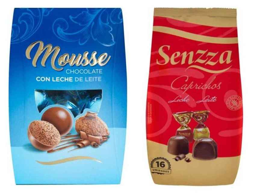 Los bombones Senzza se venden exclusivamente en Mercadona. Los fabrica Chocolates Valor.