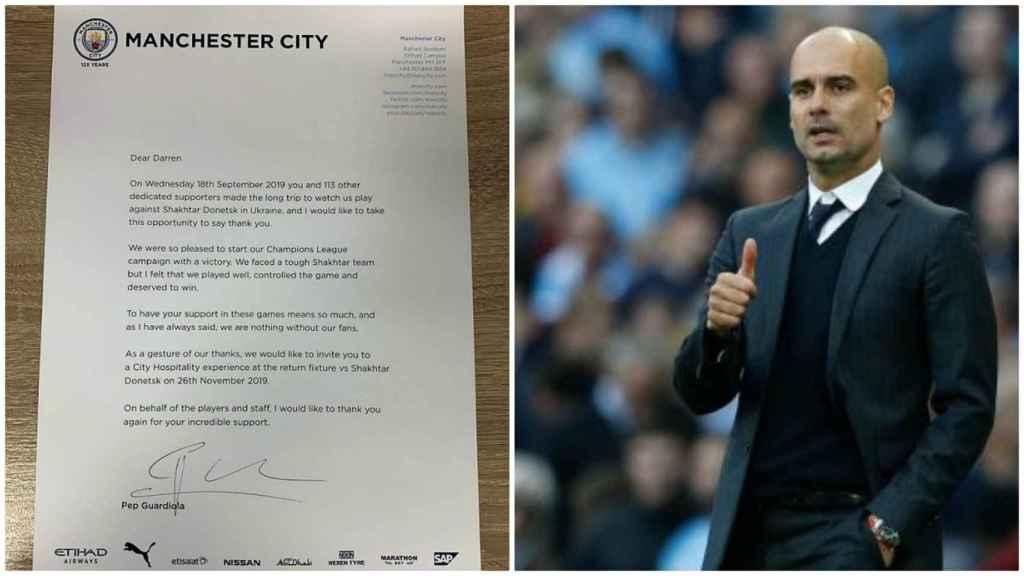 La carta de Pep Guardiola