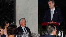 El Rey, ante el presidente de Cuba, durante su discurso.