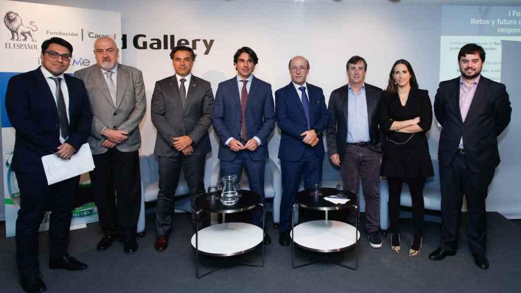 Participantes del I Foro EL ESPAÑOL ISR. Retos y futuro de las inversiones sostenibles y responsables en España.