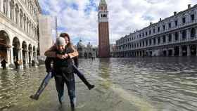 La plaza de San Marcos, inundada