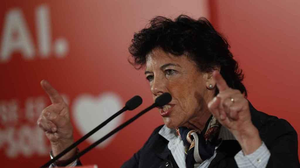 La Ministra de Educación en funciones, Isabel Celaá