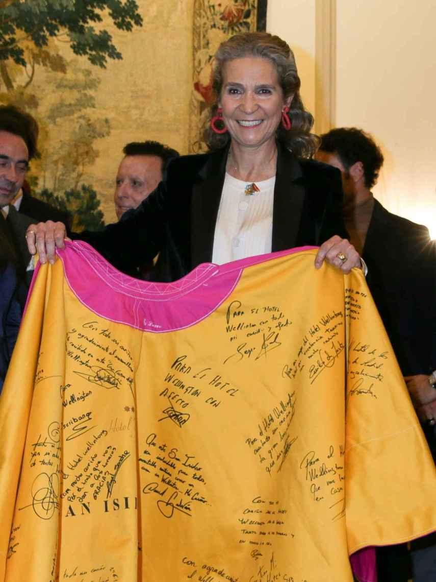 La infanta Elena ha sido reconocida por su apoyo al mundo de los toros.