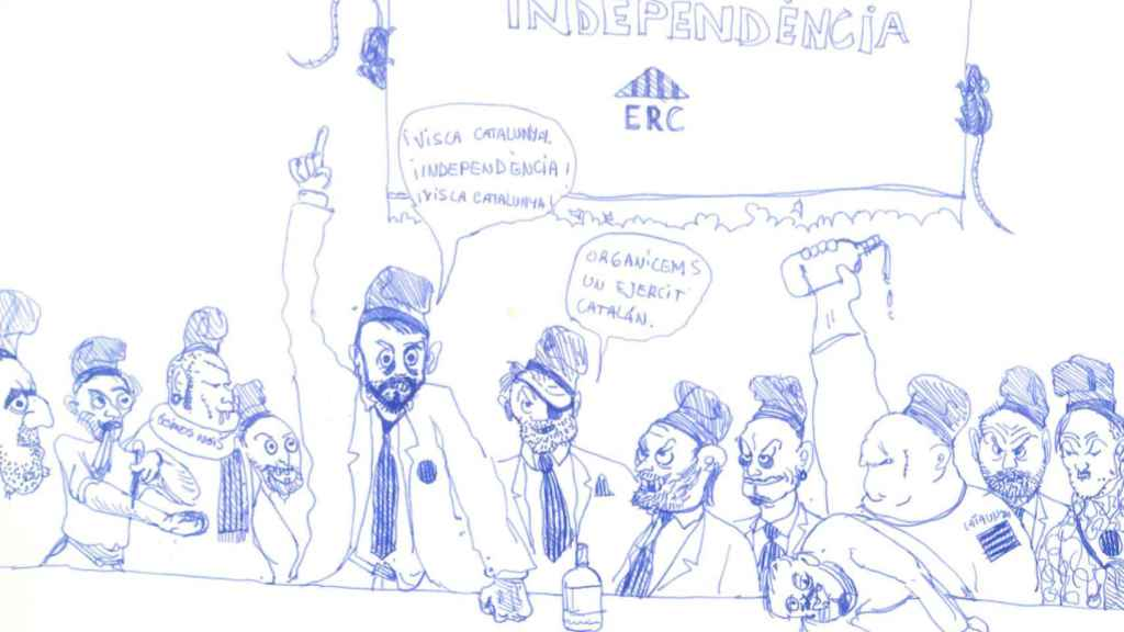 Los políticos de ERC, lanzados a por la independencia.