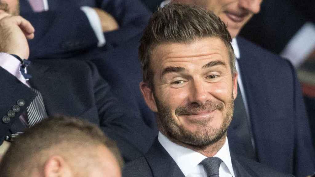 Beckham, en un partido de su equipo Inter Miami CF
