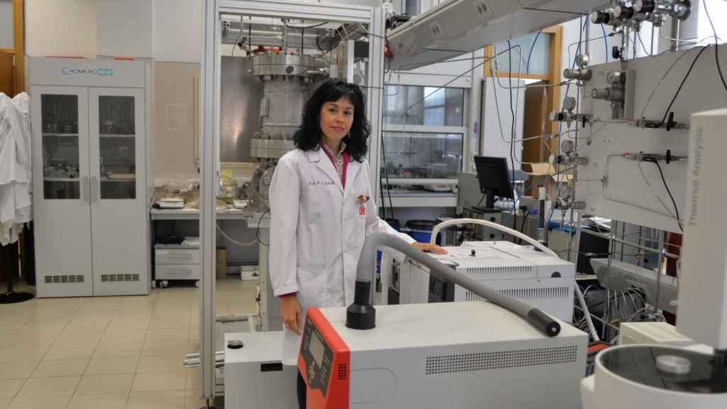 María Luz Sánchez Silva en su laboratorio.