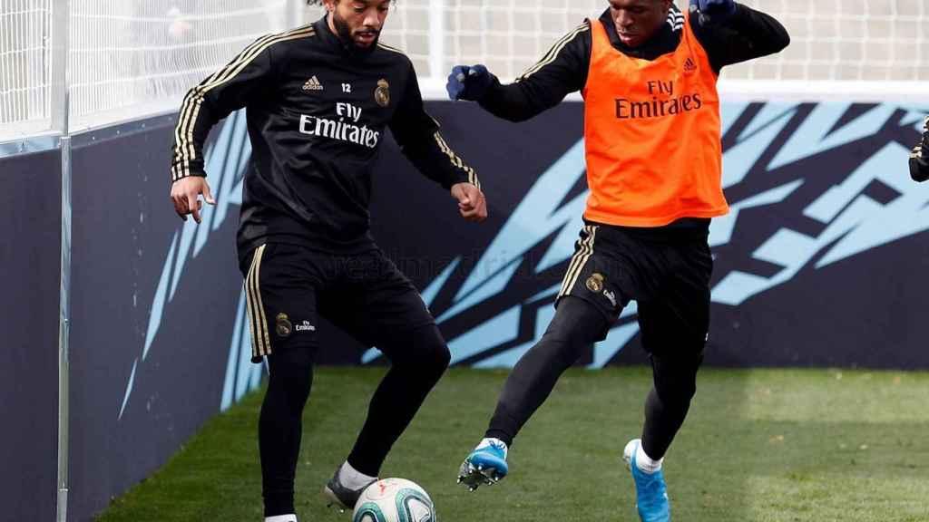 Marcelo en el entrenamiento.