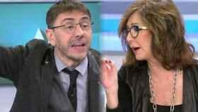 Monedero y Ana Rosa Quintana durante su enfrentamiento en 'El programa de AR'