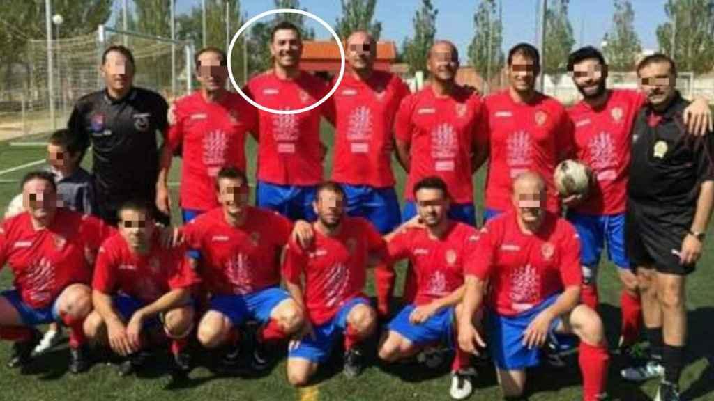 El Club Deportivo Benavente Veteranos, con Luis en la alineación.