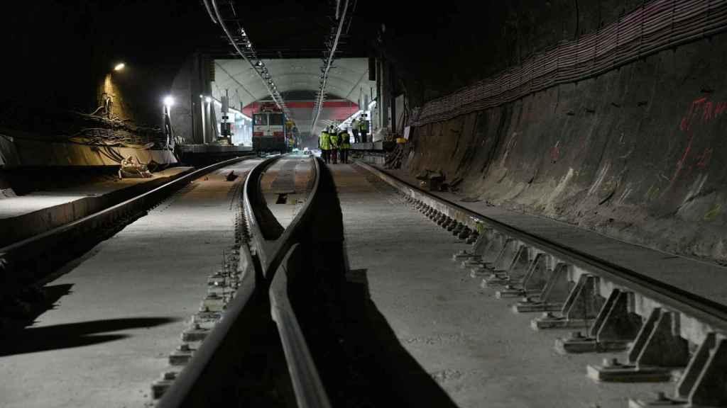 Una imagen del túnel de Recoletos.