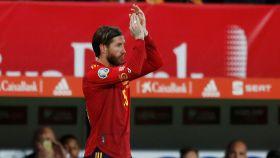 Sergio Ramos, aplaudido al ser sustituido
