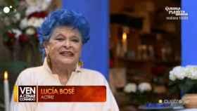 Lucía Bosé, la anfitriona del regreso de 'Ven a cenar conmigo: Gourmet Edition' en Cuatro.