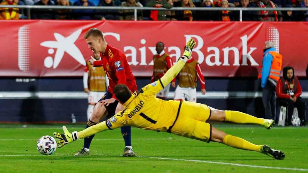 Gol de Dani Olmo en su debut con la selección española