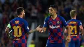 Luis Suárez y Messi con el Barça.