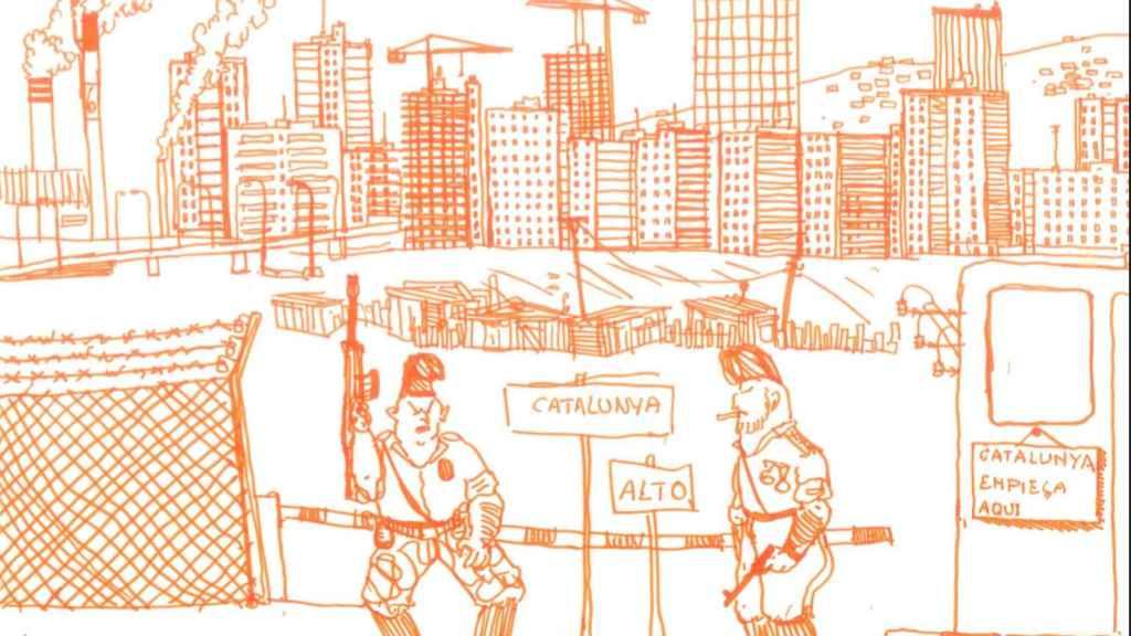 Daniel Garrido, el joven que hace 20 años reflejó el conflicto catalán a través de sus dibujos